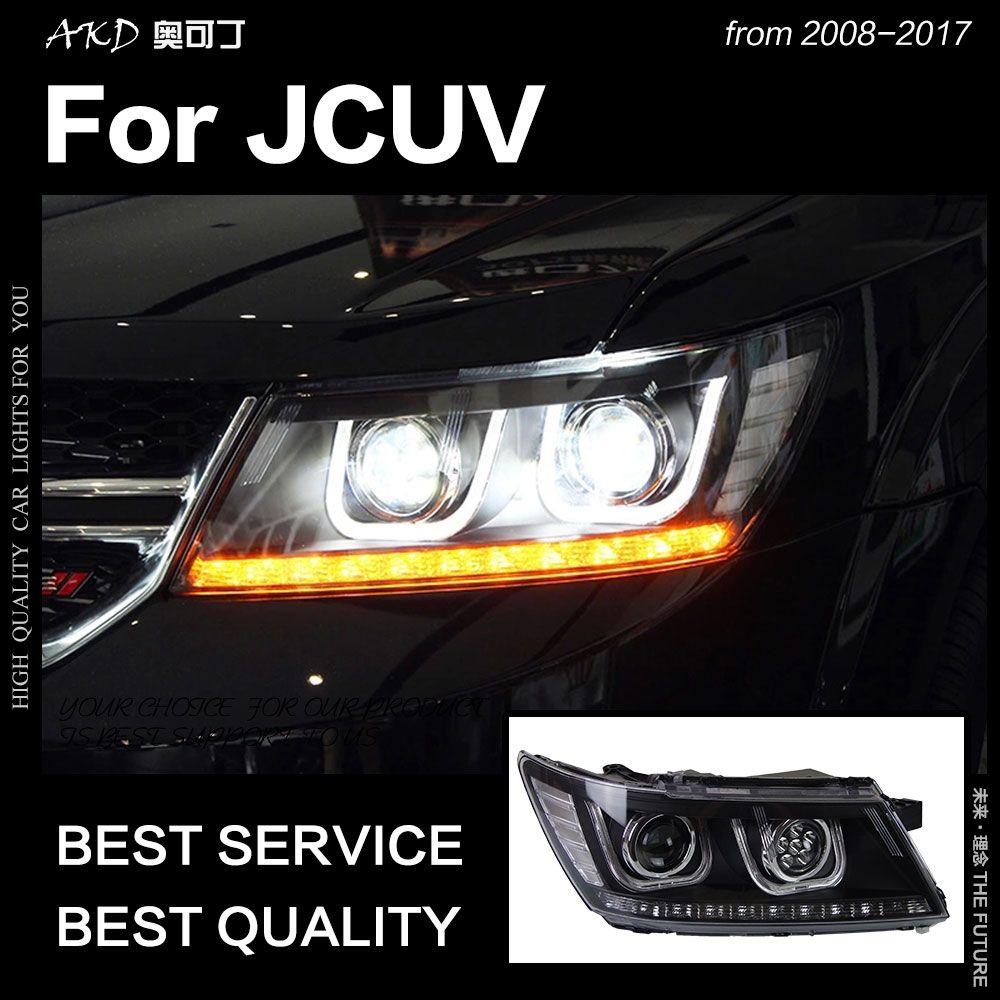 AKD Auto Styling für Dodge JCUV Scheinwerfer 2009-2017 Reise Scheinwerfer LED DRL Hid Freemont Engel Auge Bi Xenon strahl Zubehör