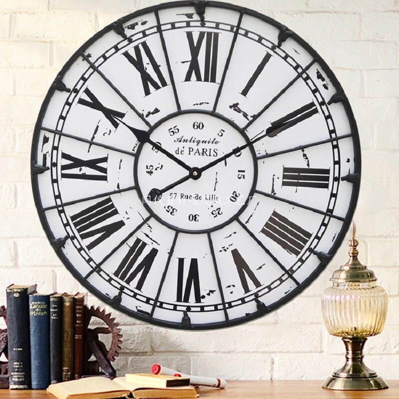 60CM Large Wall Clock Saat Reloj Roman Numerals Wall Clocks Duvar Saati Horloge Murale Reloj de Pared Living room decoration