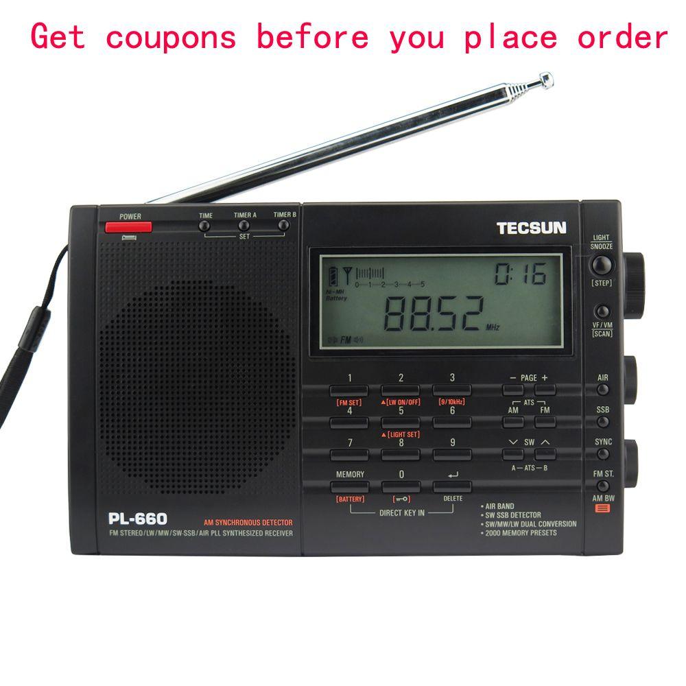 TECSUN PL-660 Radio PLL SSB VHF AIR Bande Radio Récepteur FM/MW/SW/LW Radio Multibande Double Conversion TECSUN PL660