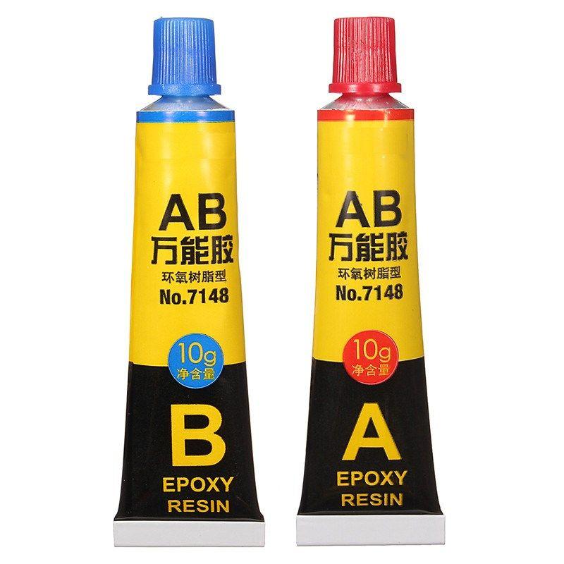 2 teile/satz Epoxidharz Kontakt Kleber Sekundenkleber Für Glas Metall Keramik Schreibwaren Büromaterial Schulbedarf 6703