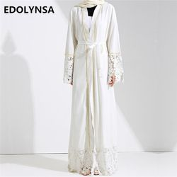 Dubaï Abaya Musulman Robe Solide Plus La Taille Robe À Tricoter Dubaï Abaya Robes Kaftan Abaya Robes Marque De Mode Musulman Robe # D281