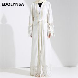 Dubai Abaya Muslim Dress Solid Plus Size Robe Knitting Dubai Abaya Dresses Kaftan Abaya Dresses Brand Fashion Muslim Dress #D281