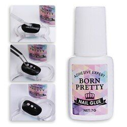 1 Bottle BORN PRETTY Nail Decoration Adhesive Glue Fast-dry for UV/LED 7g Manicure Nail Art Tool Accessories