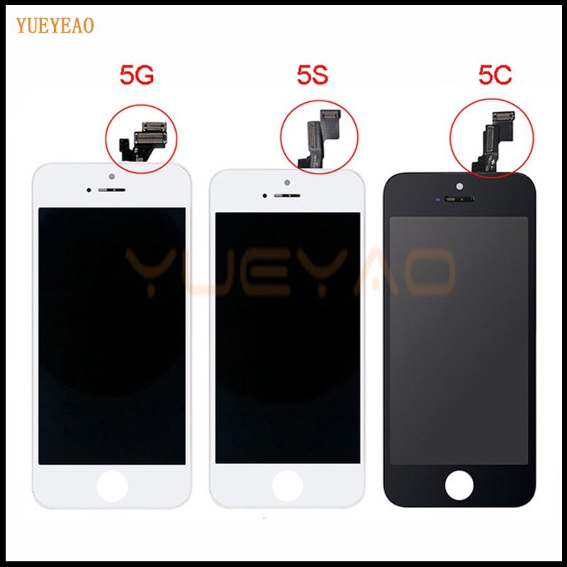 YUEYAO  AAA Screen For Apple iPhone 5 5S 5C LCD Display Touch Screen Assembly With Digitizer Glass No Dead Pixel Phone Parts