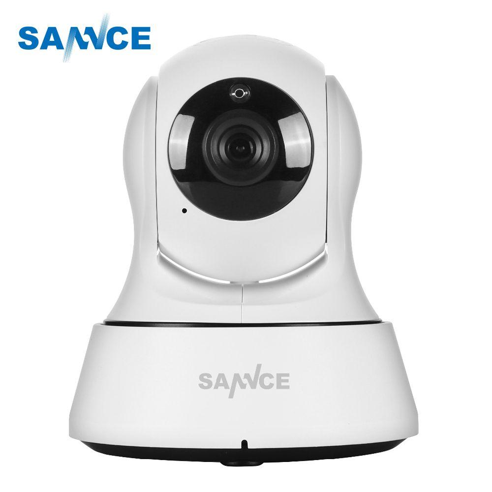 SANNCE HD 720P caméra IP Wifi sécurité à domicile P2P surveillance intérieure CCTV 6 pièces led IR Vision nocturne sans fil caméra IP 3.6m