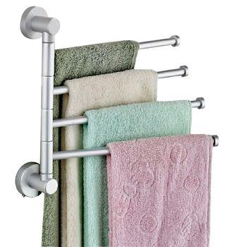 4 стержня из нержавеющей стали полотенцесушитель вращающаяся стойка для Полотенец кухня ванна стена установленный полированный полотенце...