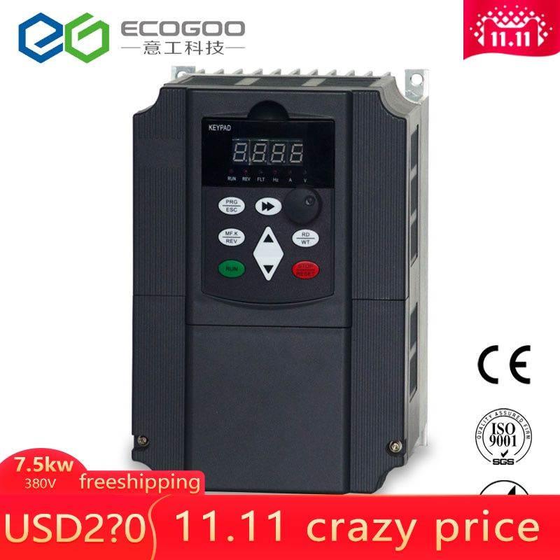 380v 7.5KW AC Variable Speed Drive/ Frequency Inverter/VFD/ac drive/frequency converter