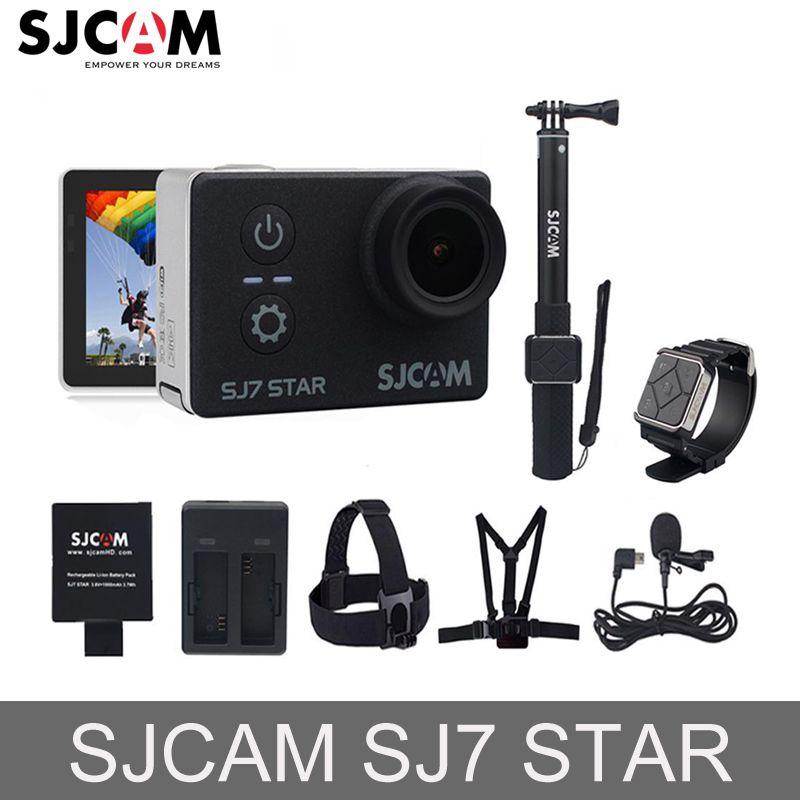 100% Original SJCAM SJ7 2 ''STERN Wifi 4 karat Touchscreen Ambarella A12S75 30 mt Wasserdichte Fernbedienung Sport Action kamera Auto Mini DVR
