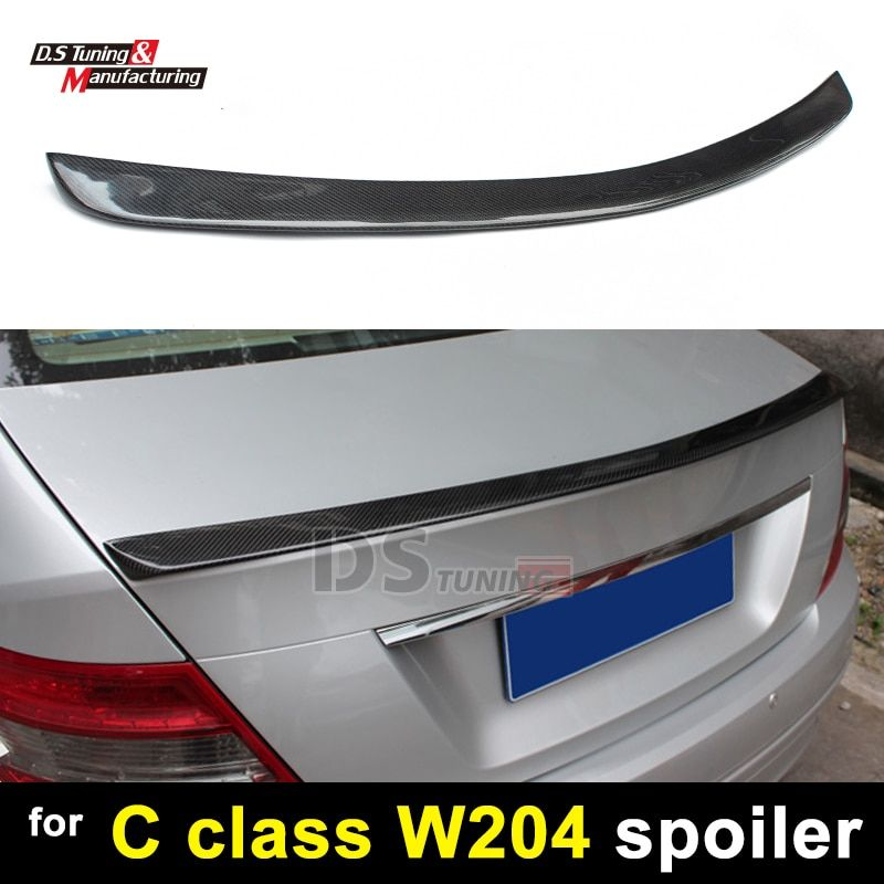 Mercedes W204 Carbon Fiber Spoiler für C Klasse 2 tür Coupe Hinten Flügel C300 2007-2014