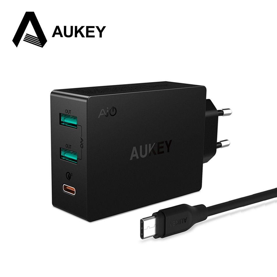 AUKEY Charger Type c Qualcomm Quick Charger 3.0 charger for phone USB-C Fast Phone Charger for iPhone Xiaomi Redmi 4X&Tablets