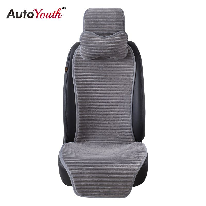 AUTOYOUTH New Winter <font><b>Nano</b></font> Velvet Car Seat Cover With Headrest 5 Colored Universal Car Seat Cushion Protector Car-Styling