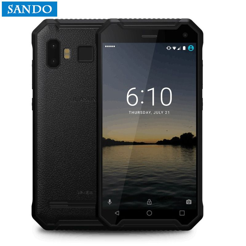 Jeasung P8 Rugged Smartphone, Quad Core MTK6737, Android 7.0, 4/32GB, 5000mAh Battery Mobile Phone with Fingerprint <font><b>Reader</b></font>
