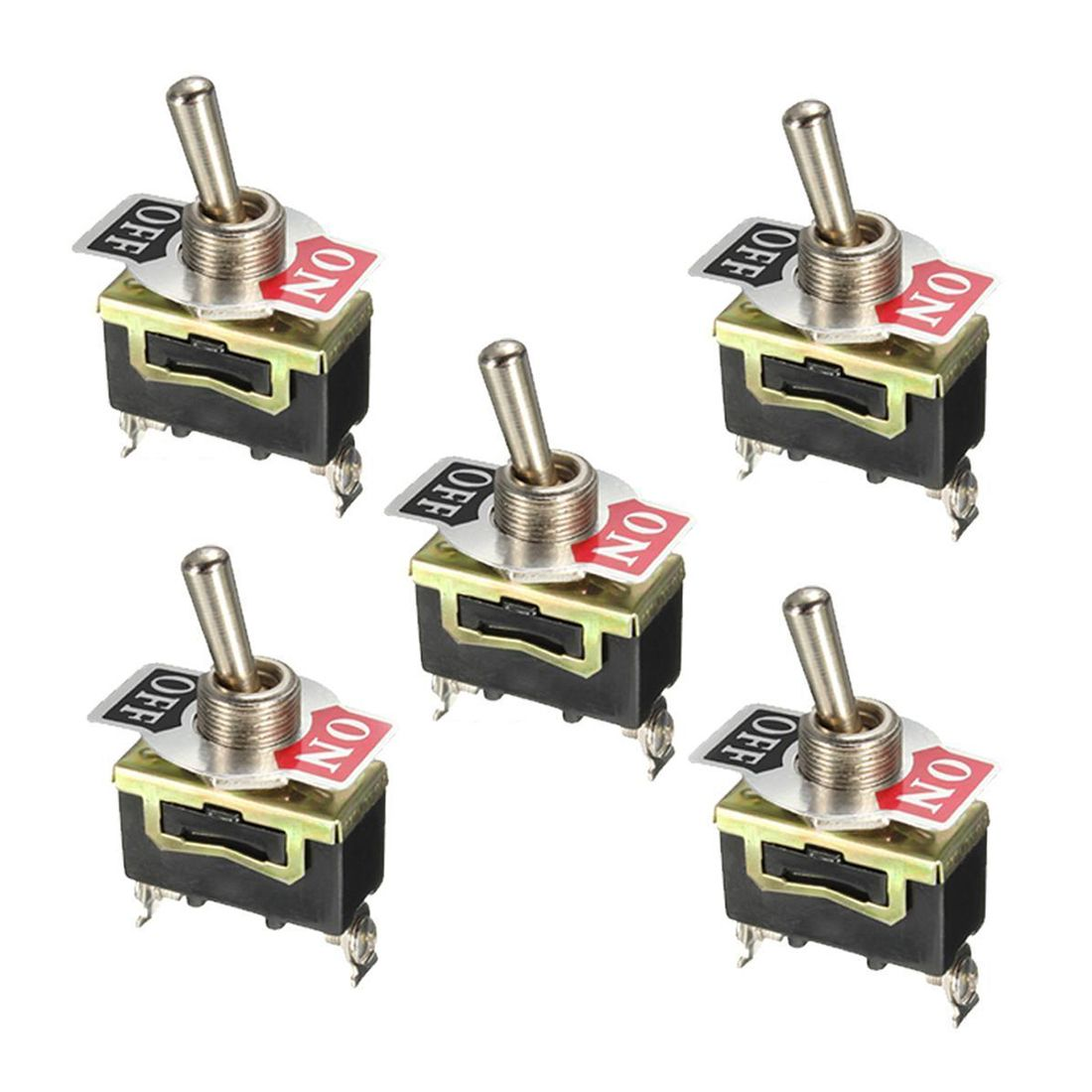5 stücke 12 V Schwere Toggle Flick Schalter ON/OFF Auto Dash Licht Metall SPST 12 Volt