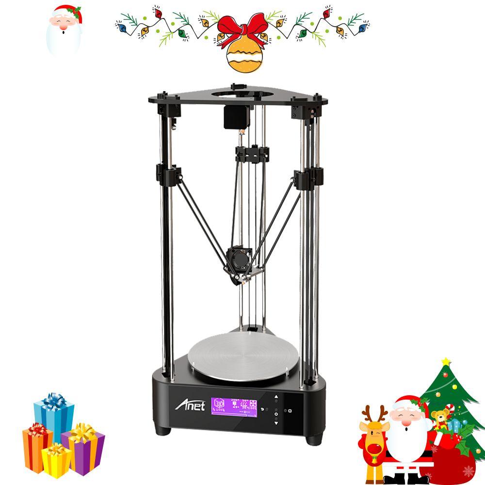 Anet A4 3D drucker kit DIY impresora 3d Delta Struktur Pulley oder Linear 3D Druck Größe Durchmesser 200*210mm mit PLA Filament