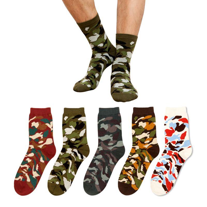 Новинка 2017 года Зимние хлопковые носки Для мужчин и женщина Cassic Для мужчин камуфляж солдат Носки для девочек трубки на открытом воздухе Вое...