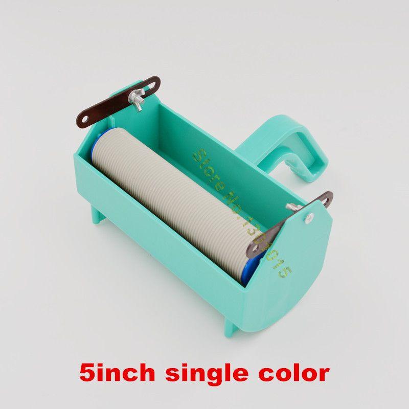 Fix pour 5 pouces en caoutchouc rouleau à motif, décoration murale peinture outils, peinture papier peint liquide poignée grip avec une seule couleur réservoir