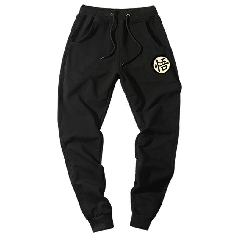 Décontracté Drôle Imprimé Dragon Ball Goku Hommes pantalon Coton Automne Hiver Gris Hommes pantalon de Jogging Noir Grande Taille pantalon pantalon
