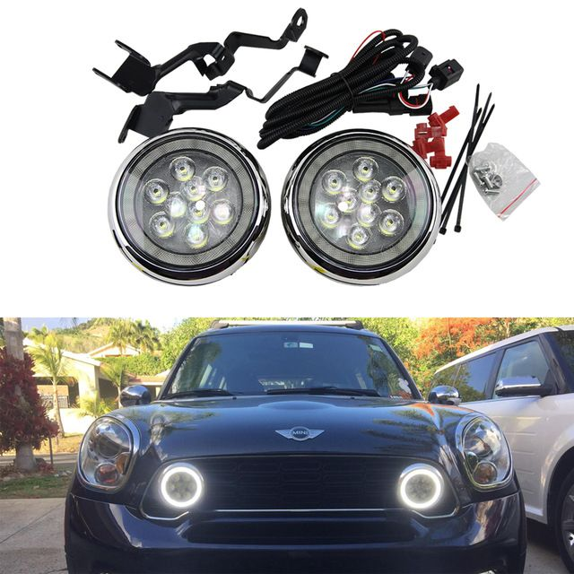 Super Helle One Set Mini Rally Driving DRL Engel Augen Nebel Licht Für R55 Clubman R56 Hatch R57 R58 Coupe r60 Countryman R61 F56
