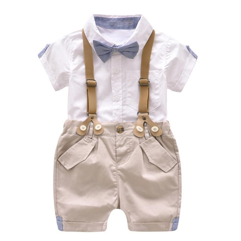 Toddler Boys Clothing Set Summer Baby Suit Shorts Shirt 1 2 3 4 Year Children Kid Clothes Suits Formal Wedding Party Costume