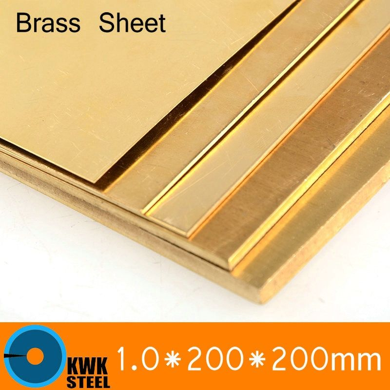 1 * 200 * 200mm Brass Sheet Plate of CuZn40 2.036 CW509N C28000 C3712 H62 Customized Size Laser Cutting NC Free Shipping