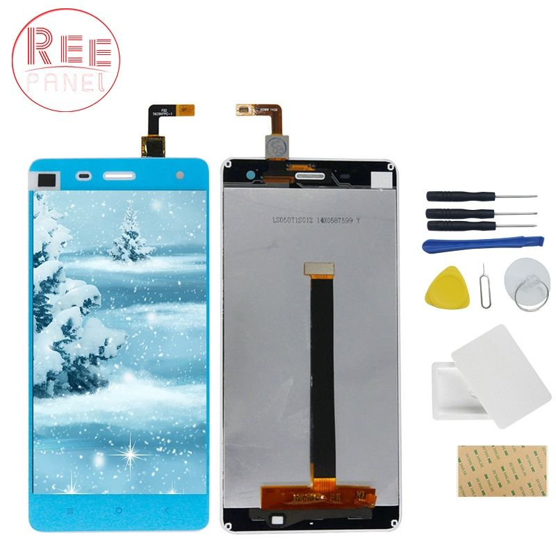 High Quality LCD Touch Screen For Xiaomi Mi4 M4 LCD Display Digitizer Assembly Highscreen touch panel+phone repair tools set