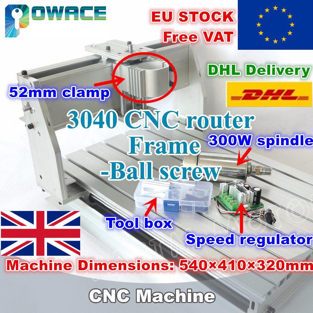 [EU LAGER/FREIES MEHRWERTSTEUER] 3040 Desktop CNC Router Fräsen Maschine 52mm mechanische kit ball schraube mit geschwindigkeit regler & 300 w spindel