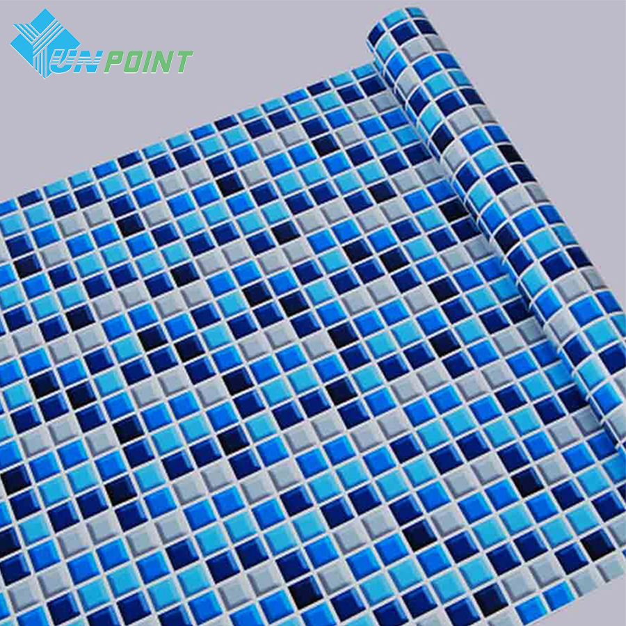 45cmX5m Self adhesive Mosaic PVC Vinyl Wall <font><b>Stickers</b></font> Waterproof Wallpapers for Bathroom Kitchen Poster Wall Decals Home Decor