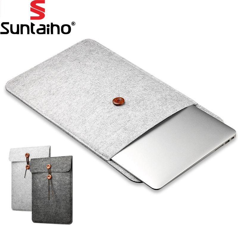 Laptop-tasche/Hülle für Apple Macbook Air Pro Retina Laptop Fall abdeckung Für Macbook 11 12 13 15 zoll Wollfilz Laptoptasche