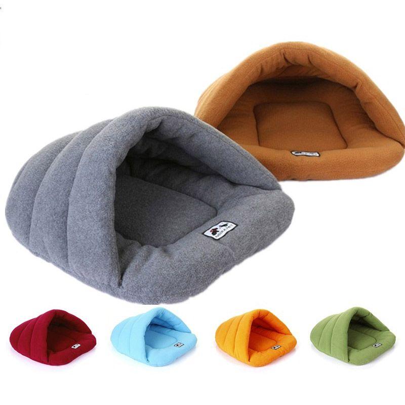 3 Размеры Творческий Животные Форма собака экспорта теплые мягкие домашние с рисунком собачки и котика спальный мешок щенок пещера кровать ...