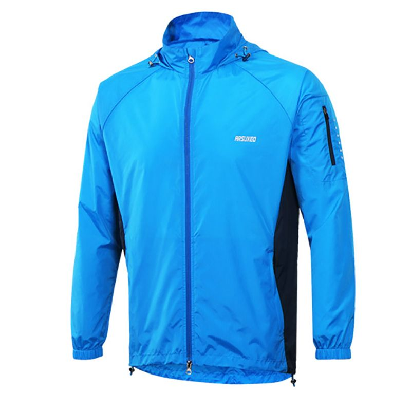 Anti-sweat Cycling Rain Coat Cycling Bike Bicycle Clothing Coat Clothes Breathable Men Running Jacket Windproof Pack Clothes