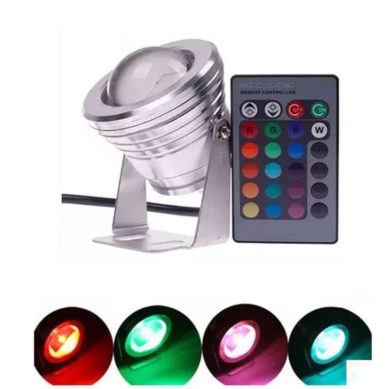 SPLEVISI gradateur RGB 10W 12V Led Spot lumière étanche IP65 Spot lampe à Led ampoule lumière noël décor pour éclairage intérieur extérieur