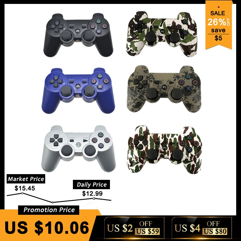 <font><b>Bluetooth</b></font> Controller For SONY PS3 Gamepad For Play Station 3 Wireless Joystick For Sony Playstation 3 PC SIXAXIS Controle