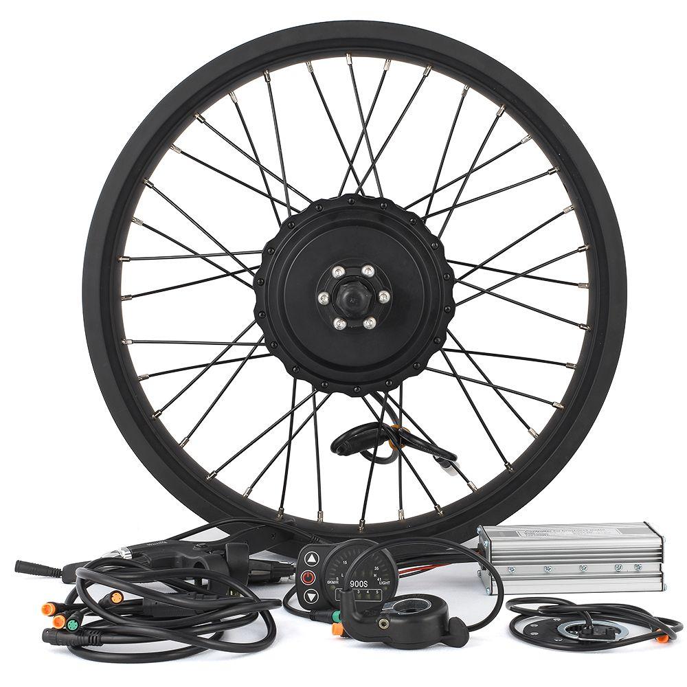 Fat bike Conversion kit 750W 48V Gear Brushless Hub Motor 26-28inch Cycling Electric bicycle rear wheel Snowmobile Motor Kits