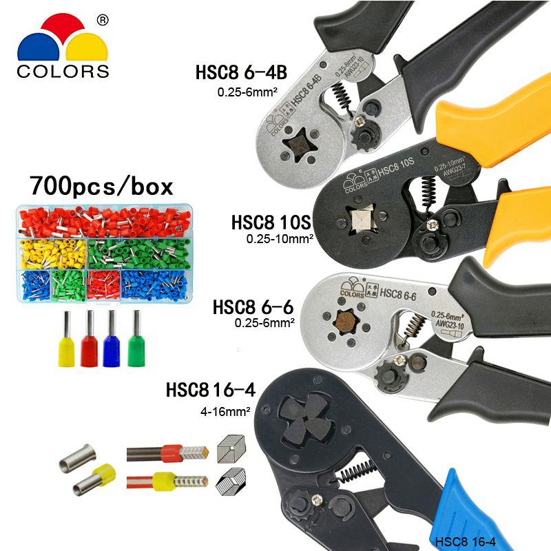 HSC8 10 S 0,25-10mm2 23-7AWG HSC8 6-4B/6-6 0,25-6mm2 23-10AWG HSC8 16-4 crimpzangen und rohr terminal box mini marke werkzeuge