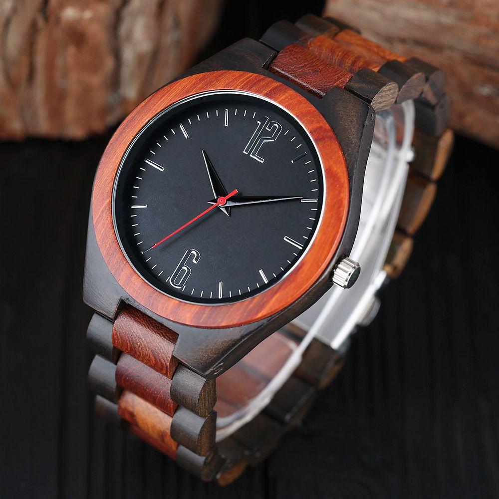 Cadeau de luxe En Bois Plein Montres Homme Creative Sport Bracelet Analogique Nature Bambou Montre À Quartz Homme Horloge Relogio Masculino