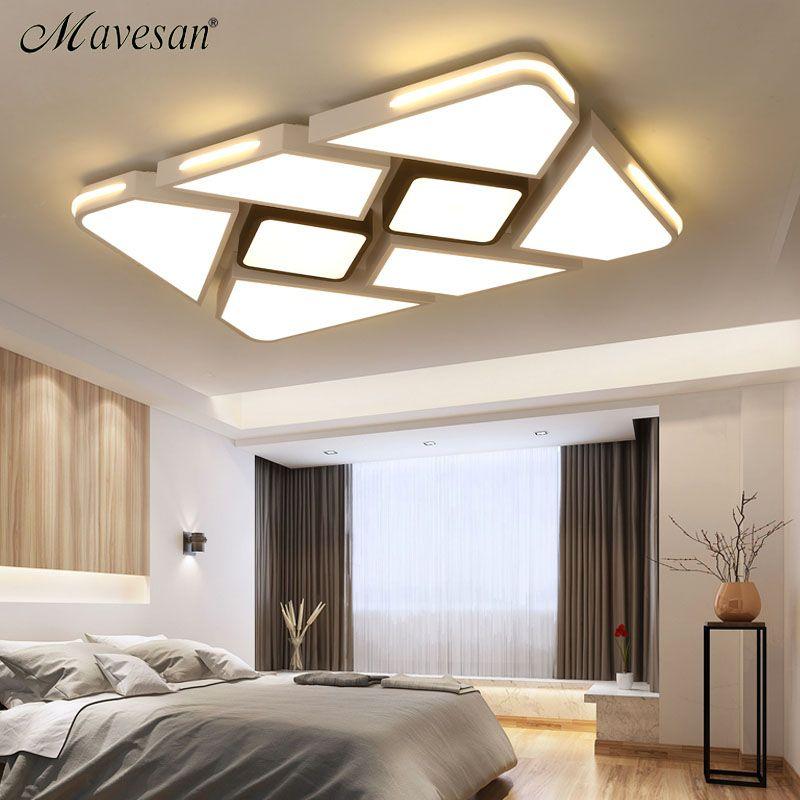 Modern White/Black Surface mounted Ceiling Lights for Bedroom Living room Modern LED dimming lighting Ceiling Lamp New