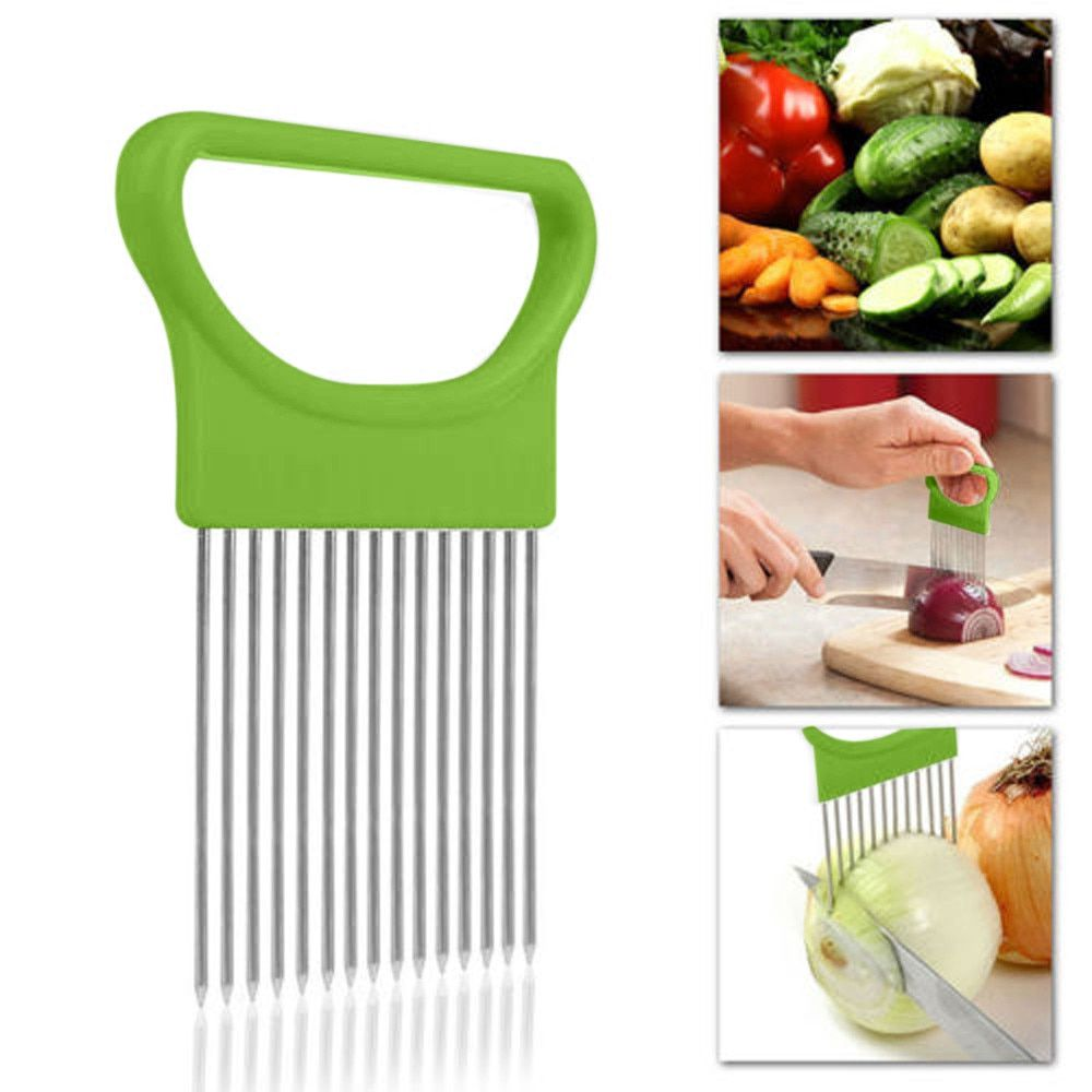 DG31901 1PC Tomato Onion Vegetable Slicer Cutting Aid Guide Holder Slicing Cutter Gadget Kitchen Tools For Protecting Finger