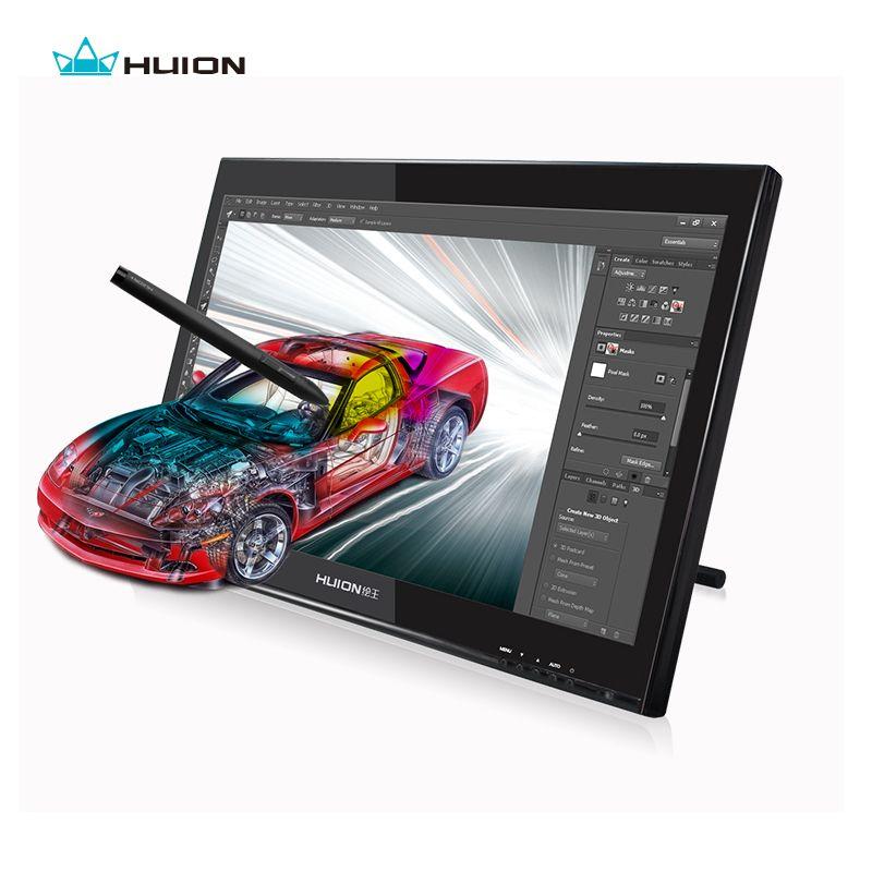 Горячей продажи HUION GT-190 19-дюймовый ЖК-монитор Цифровой графический монитор интерактивный перьевой дисплей сенсорный экран рисунок монитор ...