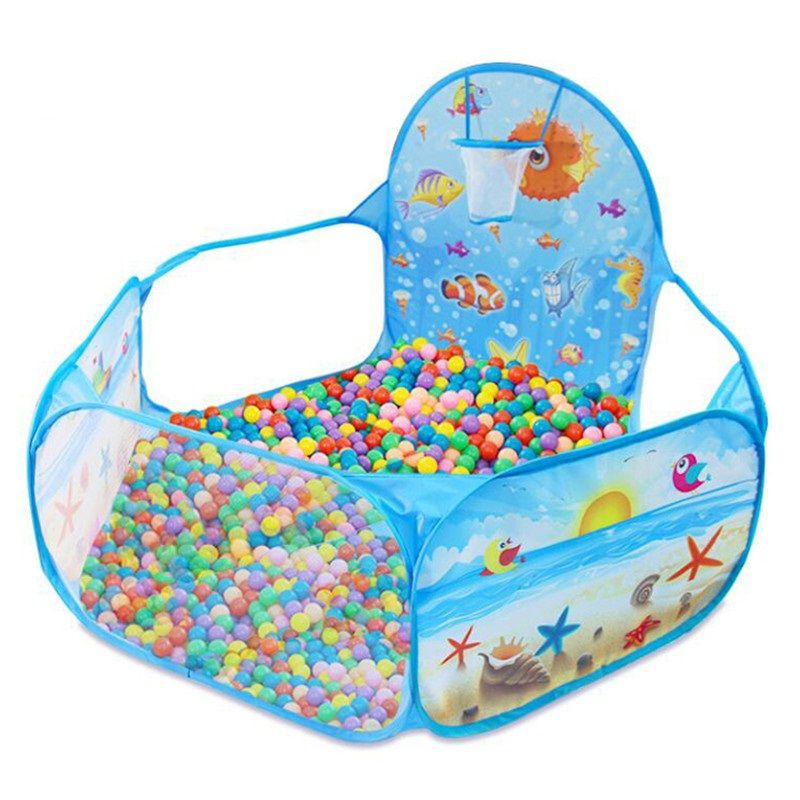 New Toys Tent Ocean Series Cartoon Game Ball Pits Portable Pool Foldable Children Outdoor Sports Educational Toy With Basket