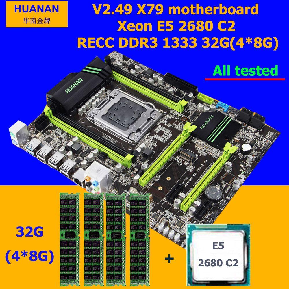 Rabatt Computer hardware marke HUANAN ZHI X79 motherboard mit M.2 slot CPU Intel Xeon E5 2680 2,7 GHz RAM 32G (4*8G) 1600 RECC