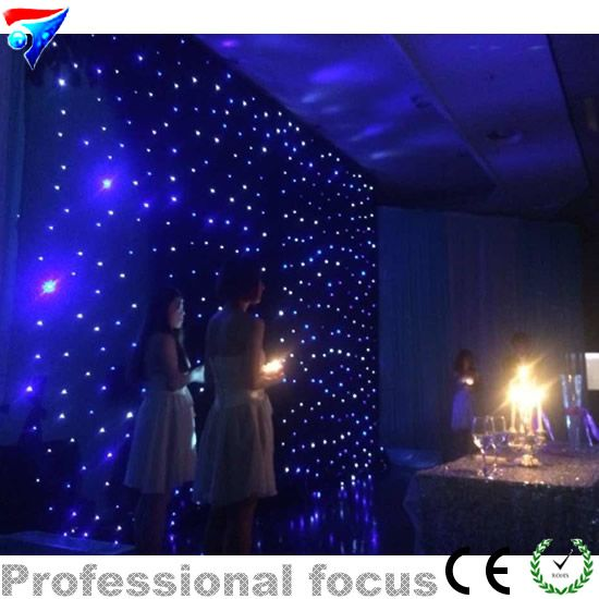 Free Shipping 3mx6m 3*6 Led Star Curtain For Nightclub Stage Wedding Backdrops Led Star Cloth Decoration Fireproof