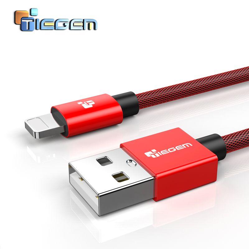 Für iPhone Kabel Tiegem Schnell Daten Lade Usb-kabel Für iPhone 7 6 6 s Plus 5 5 s SE iPad Air Mini Ladegerät Handy kabel