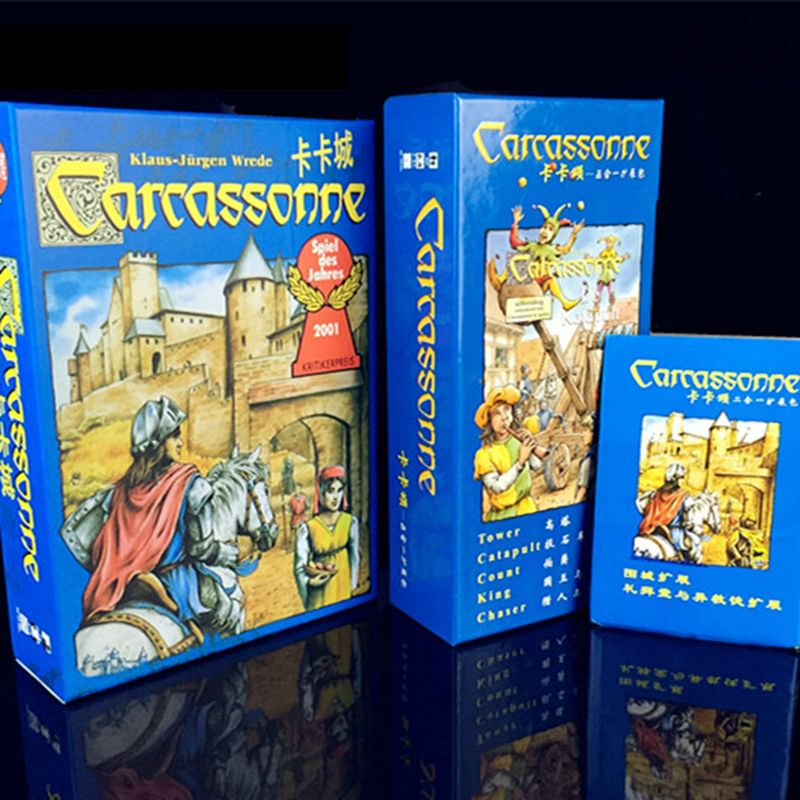 Carcassonne Board game Basic, The River/Tower/Catapult/Count/King/Chaser Board Game Card Game Party Family Game