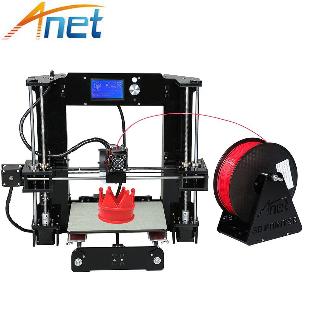 Anet A6 &A8 Normal/Auto Level 3d-Printer Big Size Reprap impresora i3 3D Printer Kit DIY Free 1kg/10m Filament Kit