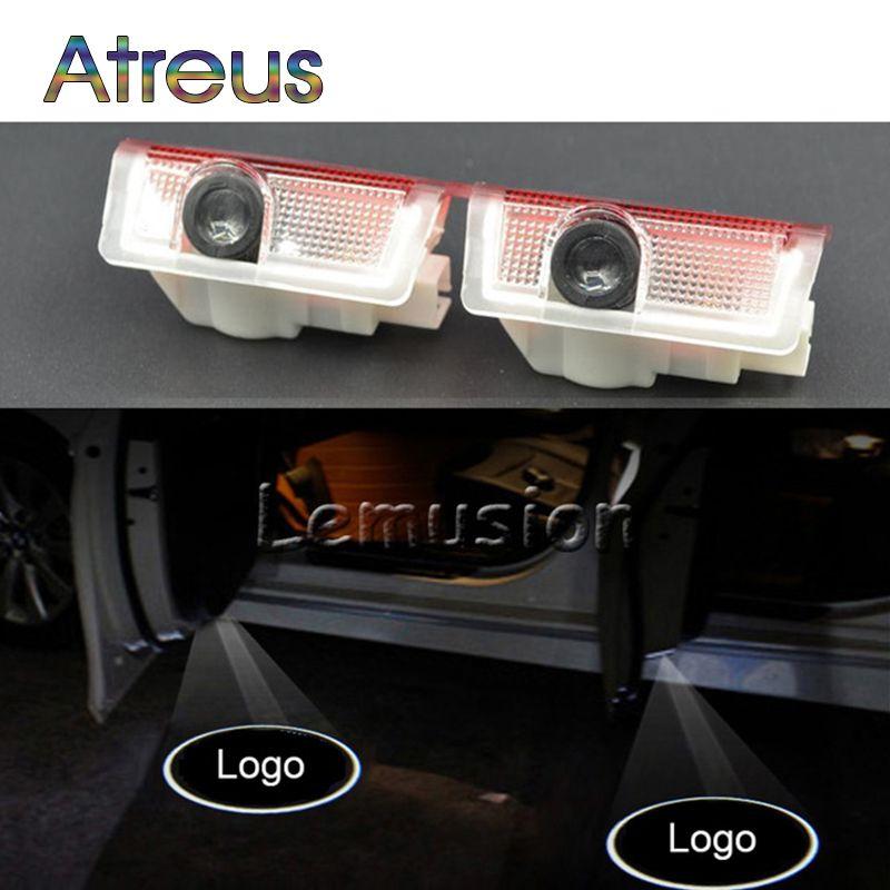 Atreus Car Door Welcome Light For Mercedes A B C E M GLA GL Class W166 W212 W246 W176 W205 X164 Benz LED Courtesy Lamp Projector