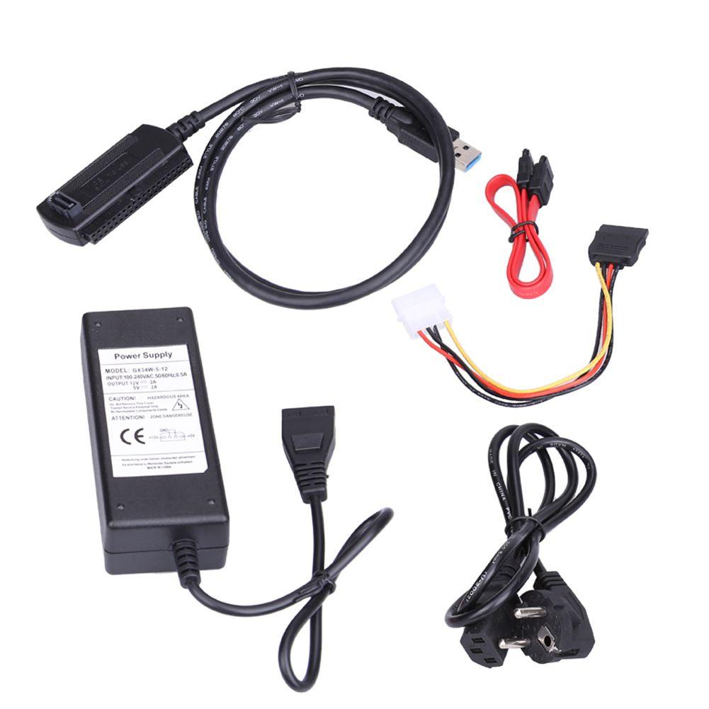 USB3.0 USB2.0 Vers IDE/SATA Adaptateur Convertisseur Câble Soutien 3 TB 2.5/3.5 Pouce Disque Dur Enregistreurs 110x45x30mm