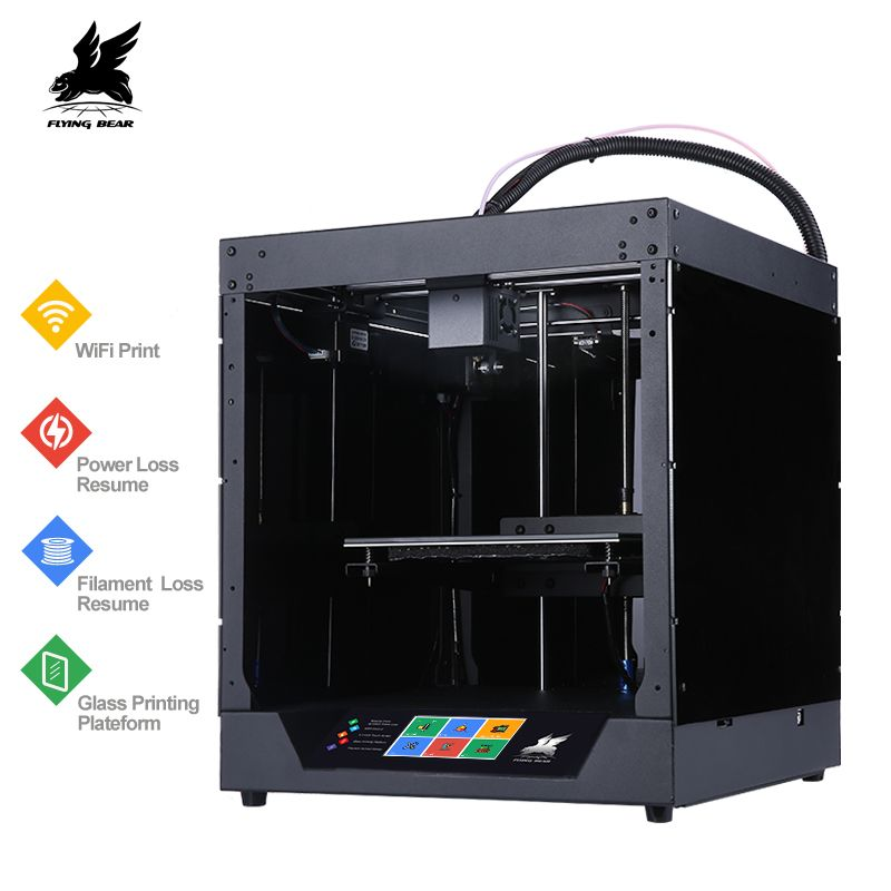 Newest Flyingbear-Ghost 3d Printer full metal frame High Precision 3d printer kit imprimante impresora glass platform wifi