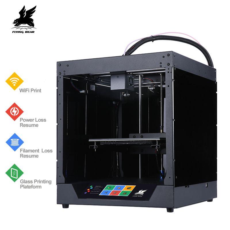New Design Flyingbear-Ghost 3d Printer full metal frame High Precision 3d printer kit imprimante impresora glass platform wifi