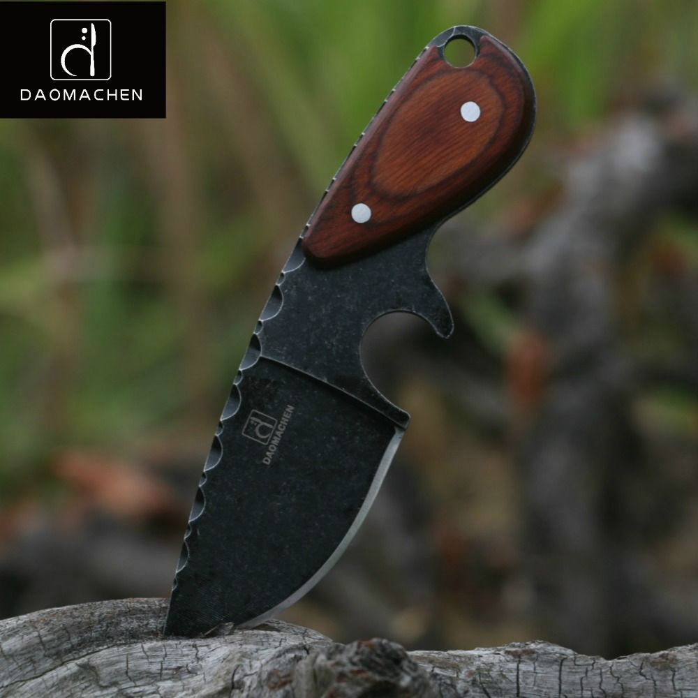 DAOMACHEN tactical hunting knife outdoors camping survive knives multi diving <font><b>tool</b></font> & Stone wash blade Free fast shipping