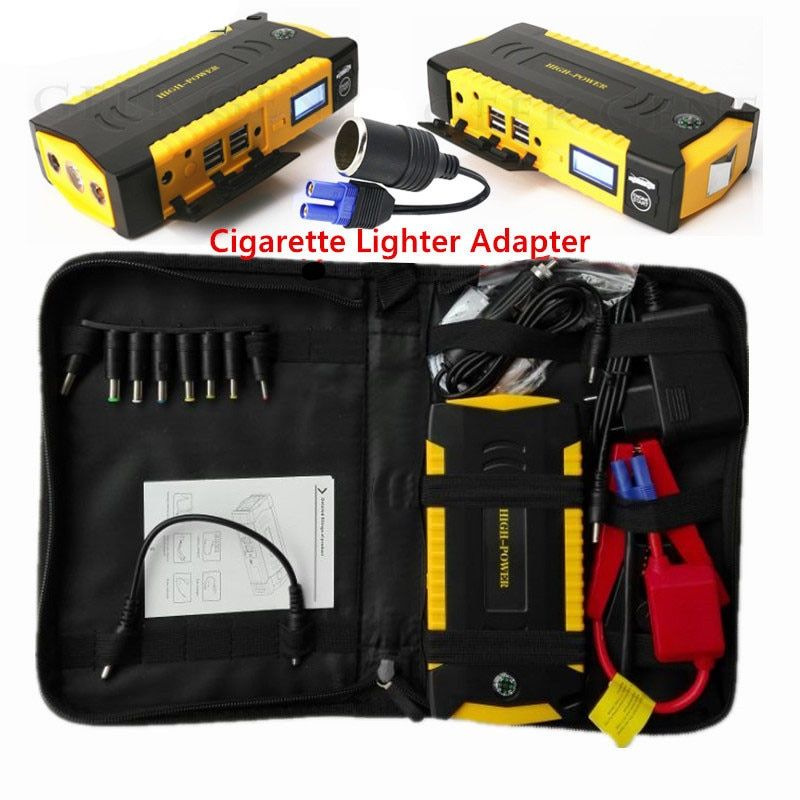 Super Power Car Jump Starter Power Bank 600A Portable Car Battery Booster Charger 12V Starting Device Petrol Diesel Car Starter